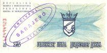 Bosnie-Herzégovine 25 Dinara  Armoiries - 1992 - UN CIV POL