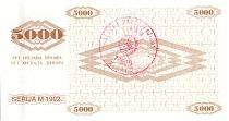 Bosnie-Herzégovine 5000 Dinara  Colombe de la Paix - 1992