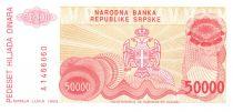 Bosnie-Herzégovine 50000 Dinara - P. Kocic - Armoirie - 1993
