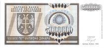 Bosnie-Herzégovine 5.000.000 Dinara - Armoiries - 1993