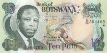 Botswana 10 Pula Pres. O.J.K Masire - Banque Centrale - 2002