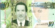Botswana 10 Pula Pres. Serestse Khama Ian Khama - Assemblée Nationale - 2012