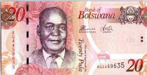 Botswana 20 Pula Dr Kgalemang Motsete - Mine - 2014