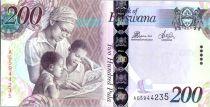 Botswana 200 Pula Education - Zebras - 2014
