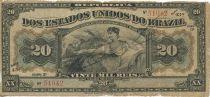 Brasil 20 Mil Reis Reis, Woman seated