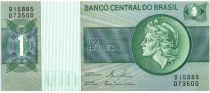 Brasile 1 Cruzeiro Liberty - Banco Central bldg - 1980 Various serials