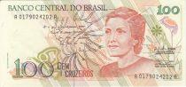 Brasile 100 Cruzeiros Cecilia Meireles - Child - 1990 Serial A.0179