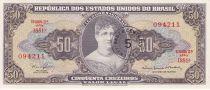 Brasile 50 Cruzeiros Princess Isabel - Law - Estampa 2 A Série 1881 A - 1967