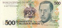 Brasile 500 Cruzados Novos Novos, Augusto Ruschi, birds, Orchids - 1990 Serial A.6677
