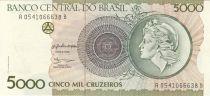 Brasilien 5000 Cruzeiros Liberty - 1990 Serial A.0541