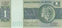 Brazil 1 Cruzeiro Liberty - Banco Central bldg - 1980 Serial B16608
