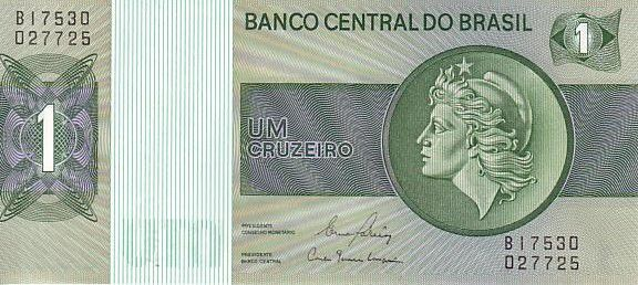 Brazil 1 Cruzeiro Liberty - Banco Central bldg