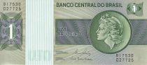 Brazil 1 Cruzeiro Liberty - Banco Central bldg