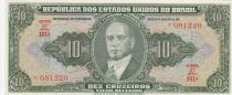 Brazil 10 Cruzeiros ND1950 - G. Vargas, handsigned - Serial 161