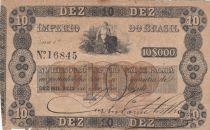 Brazil 10 Mil Reis, Imperio Do Brasil - 1852 - Counterfeit - Fine