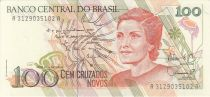 Brazil 100 Cruzados Novos Novos, Cecilia Meireles - Child, dancers - 1989 Serial A.3129