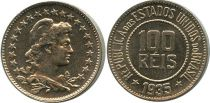 Brazil 100 Reis Liberty
