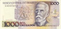 Brazil 1000 Cruzados J. Machado - Rio de Janeiro in 1905 - 1989 Serial B.0034
