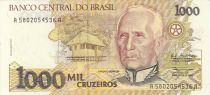 Brazil 1000 Cruzeiros Candido Rondon - Indian children - 1990 Serial A.5802