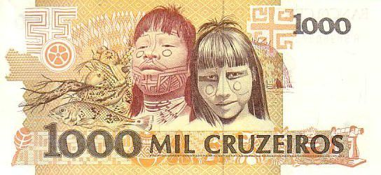 Brazil 1000 Cruzeiros Candido Rondon - Indian children