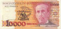 Brazil 10000 Cruzados Carlos Chagas - Laboratory - 1989 Serial A.3117