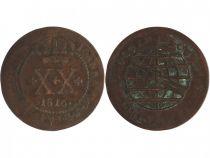 Brazil 20 Reis John - Regency - Arms