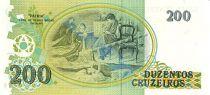 Brazil 200 Cruzeiros Liberty - Oil painting Patria by Pedro Bruno
