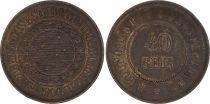 Brazil 40 Reis Republic - 1900