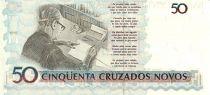 Brazil 50 Cruzados Novos Novos, C. Drummond de Andrade