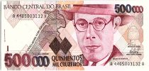 Brazil 500000 Cruzeiros, Mario de Andrade - 1993