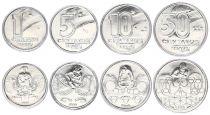 Brazil Set 4 coins
