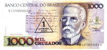 Brésil 1 Cruzado Novo ND1989 - Machado de Assis, Vue de Rio en 1905