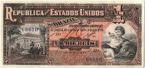 Brésil 1 Mil Reis, Musée Impériale - 1917 - Estampa 9 A - P.5