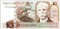 Brésil 10 Cruzados , Rui Barbosa -1987