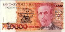 Brésil 10 Cruzados Novos sur 10000 Cruzados  - Carlos Chagas - 1989