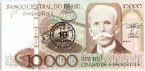Brésil 10 Cruzados sur 10000 Cruzeiros, Rui Barbosa -1986