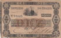 Brésil 10 Mil Reis, Imperio Do Brasil - 1852 - Faux - Counterfeit - TB