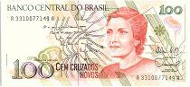 Brésil 100 Cruzados Novos, Cecilia Meireles - 1989