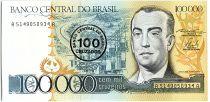 Brésil 100 Cruzados sur 100000 Cruzeiros, Juscelino Kubitschek -1986