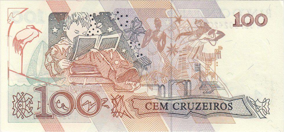 Brésil 100 Cruzeiros Cecilia Meireles - Enfant - 1990 Série A.0179