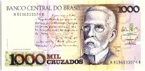 Brésil 1000 Cruzados  -  J Machado, Vue de Rio - 1988
