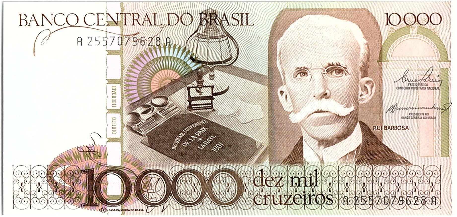 Brésil 10000 Cruzeiros, Rui Barbosa -1984