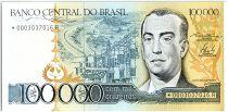 Brésil 100000 Cruzeiros, Juscelino Kubitschek -1985 N° de Remplacement