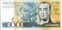 Brésil 100000 Cruzeiros, Juscelino Kubitschek -1985