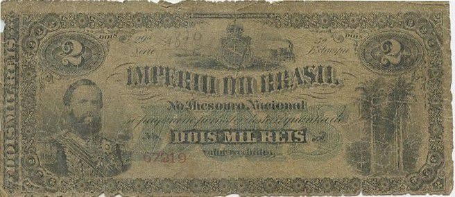 Brésil 2 Mil Reis Reis, Dom Pedro II