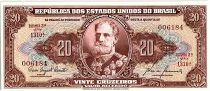 Brésil 20 Cruzeiros,  Deodoro Da Fonseca - 19(55-61)