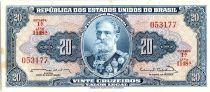 Brésil 20 Cruzeiros,  Deodoro Da Fonseca - 1963