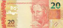 Brésil 20 Reais Liberté - Singe Mico-Leao Dourado 2010 (2017)