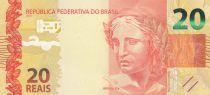 Brésil 20 Reais Liberté - Singe Mico-Leao Dourado 2010 (2019) - Neuf - P.255