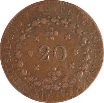 Brésil 20 Reis Pierre I - Armoiries